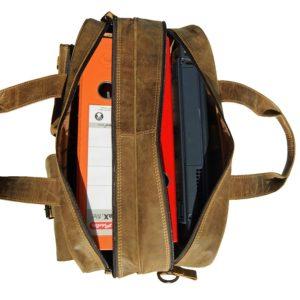 Lehrertasche Leder natur viel Platz