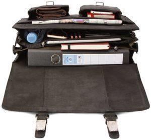 Lehrertasche Leder braun viel Platz