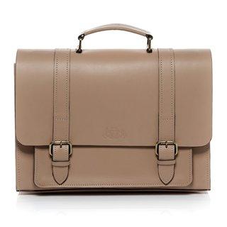 Lehrertasche aus hellem Leder
