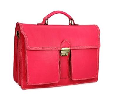 Lehrertasche Leder pink kaufen
